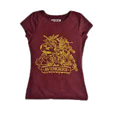 Avengers Maroon Women's Top - www.entertainmentstore.in