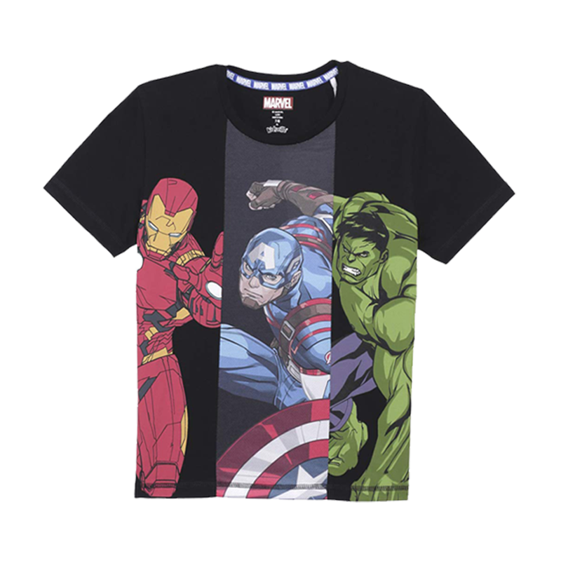 Avengers (771) Black KidsT Shirts - www.entertainmentstore.in