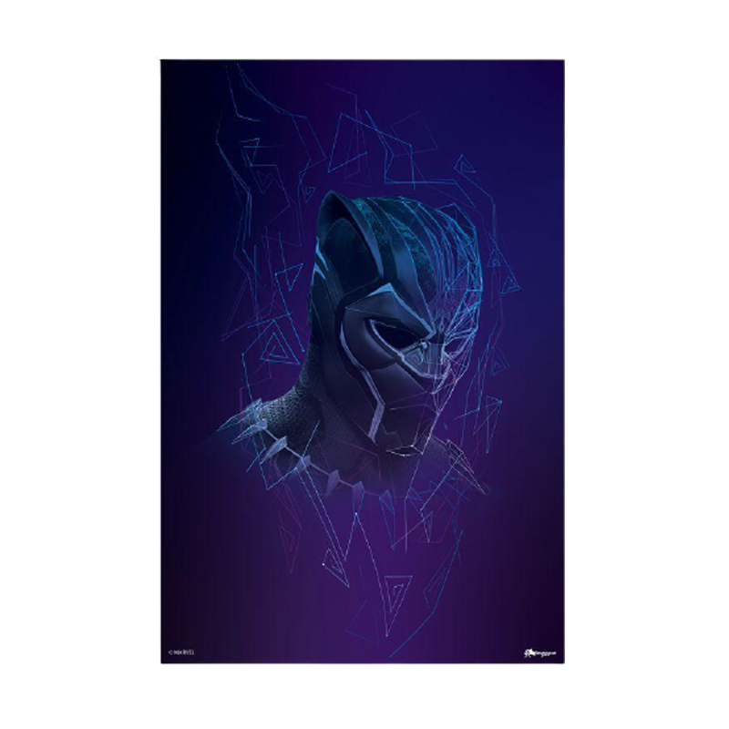 Black Panther Abstract Mini Poster - www.entertainmentstore.in