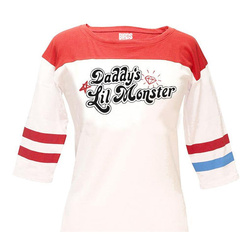 Harley Quinn Daddys Lil Monster White Womens T Shirt - www.entertainmentstore.in