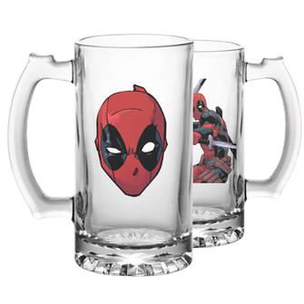 Deadpool Action Beer Mug - www.entertainmentstore.in