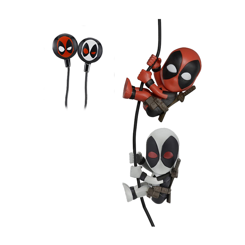 "Deadpool And X Force Deadpool 2"" Scalers Characters Earbuds - www.entertainmentstore.in"
