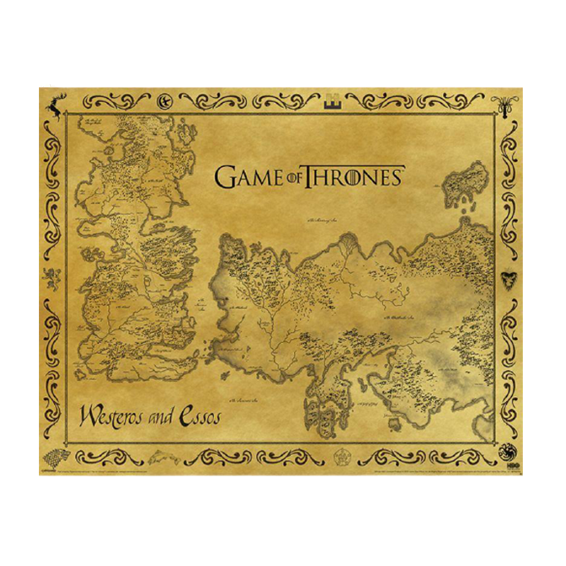 Game of Thrones Antique Map Mini Poster - www.entertainmentstore.in
