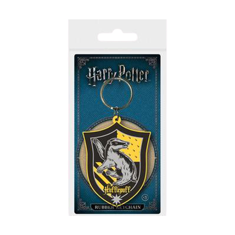 Harry Potter Hufflepuff Rubber Keychain - www.entertainmentstore.in