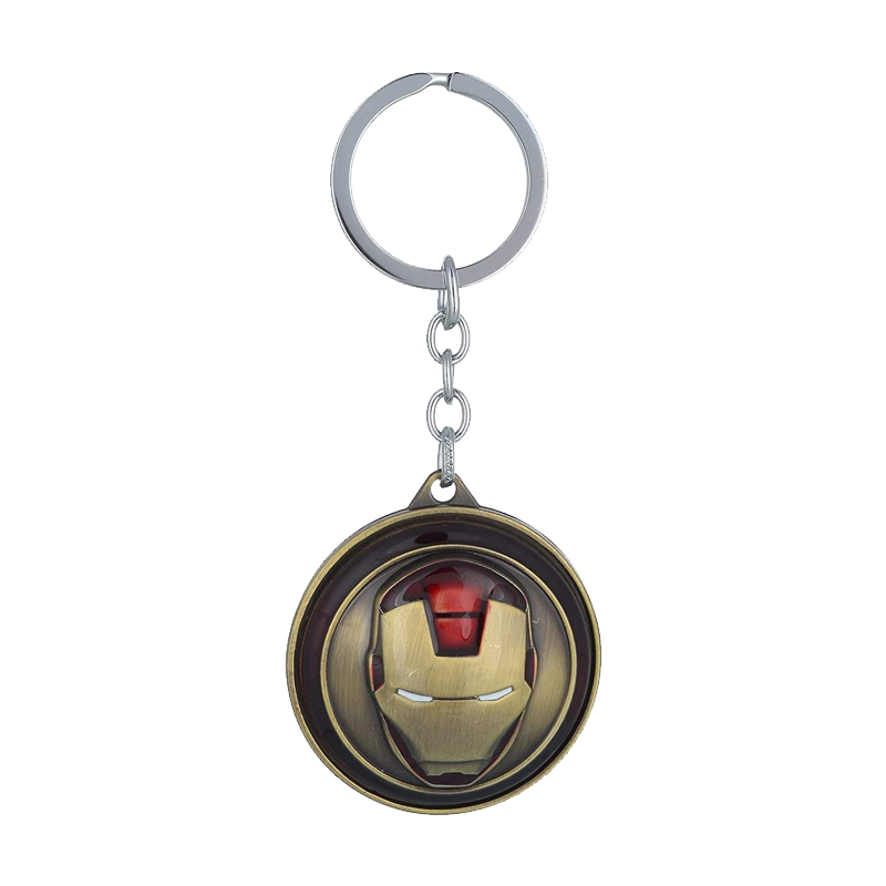 Iron Man Face Rotating Keychain - www.entertainmentstore.in