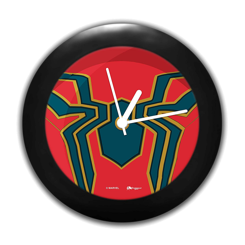Iron Spider Logo Marvel Table Clock - www.entertainmentstore.in