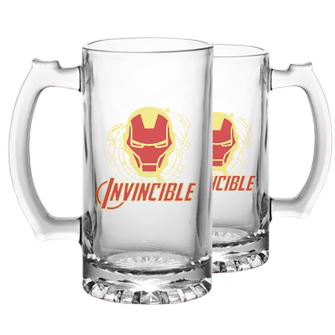 Iron Man Invincible Beer Mug - www.entertainmentstore.in
