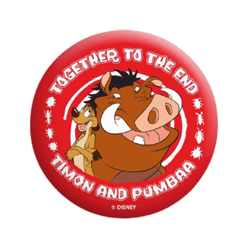 Lion King Timon And Pumba Badge - www.entertainmentstore.in