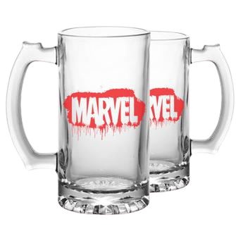 Marvel Logo Beer Mug - www.entertainmentstore.in