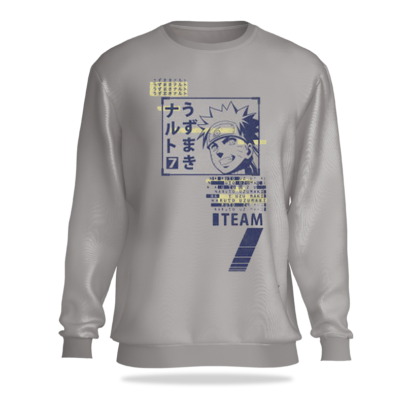 Naruto (408) Light Grey Sweatshirt - www.entertainmentstore.in