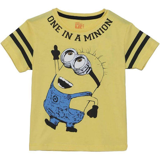 Minions (1676) Yellow Boy's T Shirt - www.entertainmentstore.in