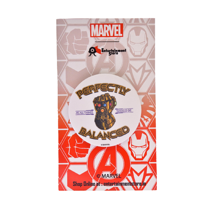 Thanos Perfectly Balance Badge - www.entertainmentstore.in