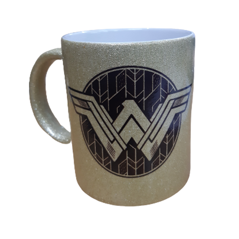 Wonder Woman Logo Gold Mug - www.entertainmentstore.in