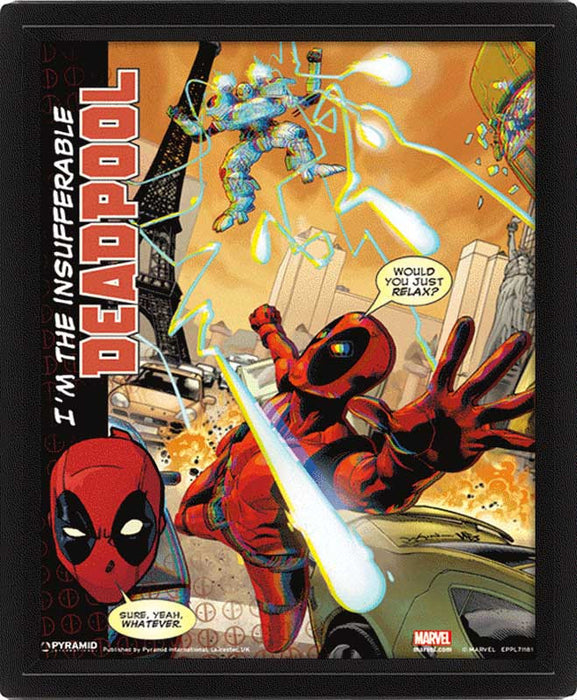 Deadpool Attack 3D Lenticular Poster