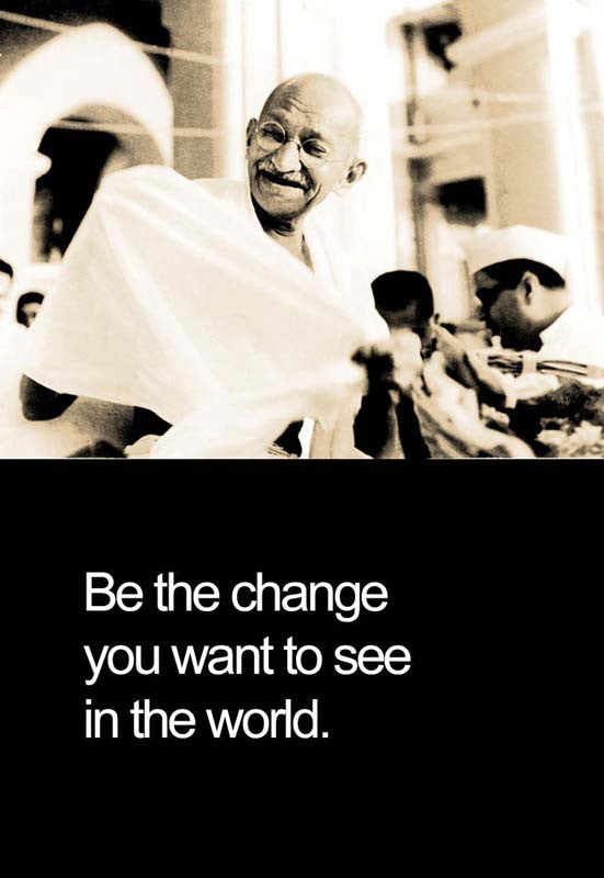 Gandhiji Be The Change Poster - www.entertainmentstore.in