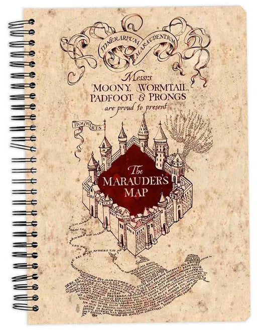 Harry Potter The Marauder's Map Notebook