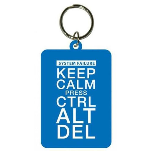 Keep Calm Press Ctrl ALt Del Rubber Keychain