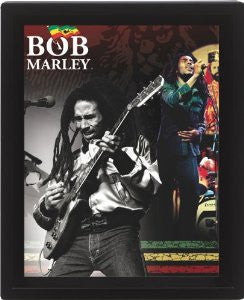 Bob Marley Montage 3D Poster