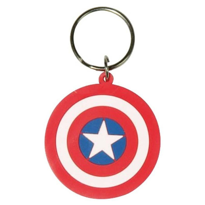 Marvel Captain America Shield Rubber Keychain