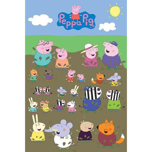 Peppa Pig Characters Muddy Puddle Maxi Poster
