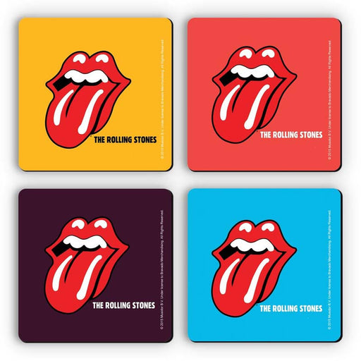 Rolling Stones Logo Coasters Set Of 4