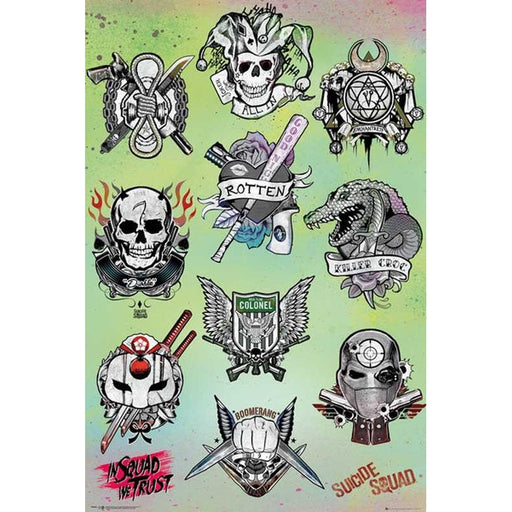 Suicide Squad Tattoo Parlour Maxi Poster - www.entertainmentstore.in