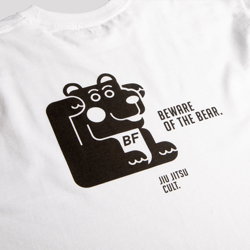 Beware Of The Bear White Tee