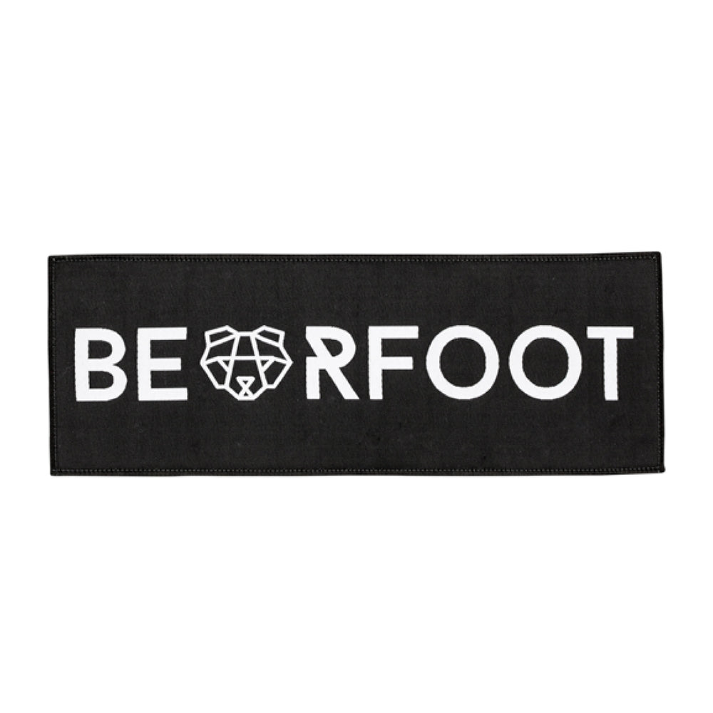 Bearfoot Patch Black Rectangle Large
