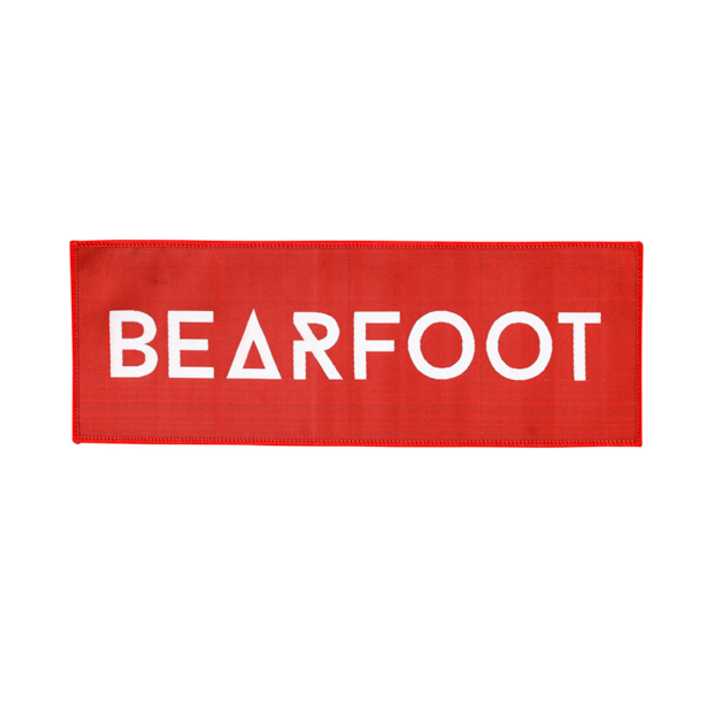 Bearfoot Patch Red Rectangle Large