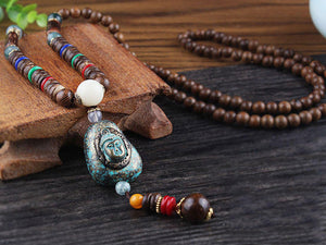 Vintage Nepal Buddhist Mala Necklace