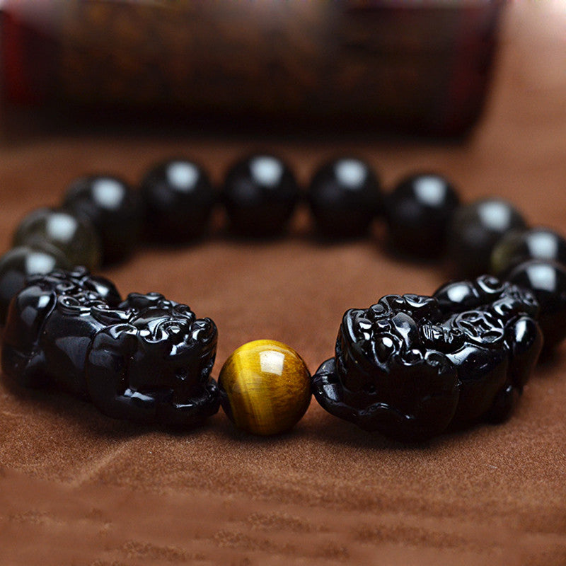 Natural Golden Obsidian Beads Stone