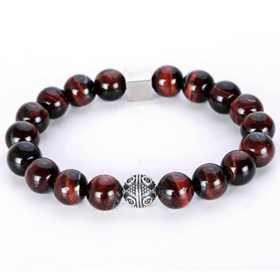 Thai Silver Tiger Eye Natural stone Buddha Healing