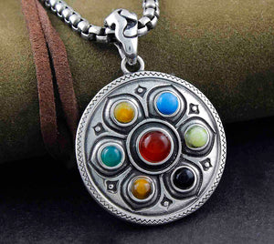 Stainless Steel TIBET Buddhist Lotus