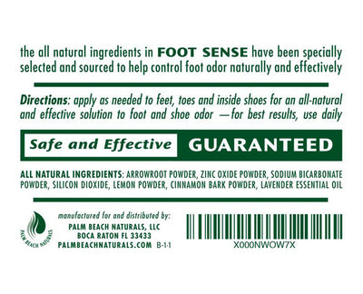 Foot & Shoe Odor Powder