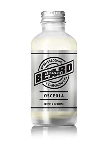BEARD SENSE All Natural Premium Beard Oil (Osceola Light Citrus Scent)