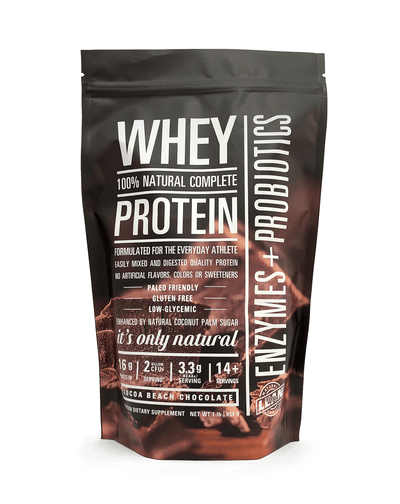 LEAN SENSE All-Natural, Low-Carb Whey Protein with Probiotics and Digestive Enzymes (Cocoa Beach Chocolate)