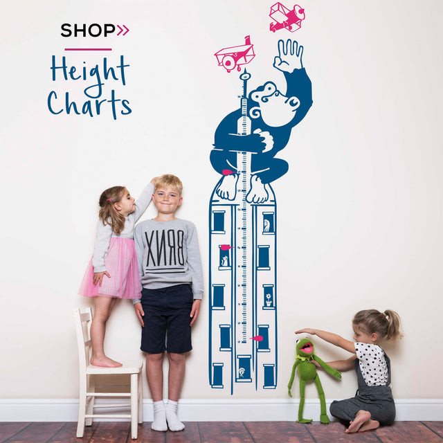 wall art height chart wall sticker