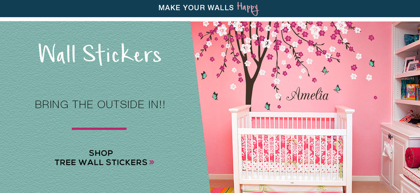 tree wall stickers banner
