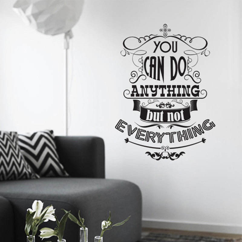 you can do anything…' wall sticker o164 – www.wallart.co.uk