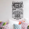 'Music Is What Feelings…' Wall Sticker O168