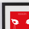 Personalised Significant Date Birds And Baby Bird Print WA108