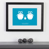 Personalised Print Of Three Owls WA107