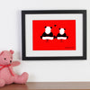Personalised Significant Date With Two Loving Pandas WA105