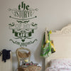 'The Story Of My Life' Wall Sticker J25