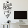 'I Am Thankful…' Wall Sticker O152