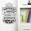 'Victory Is Sweetest When…' Wall Sticker O163