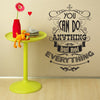 'You Can Do Anything…' Wall Sticker O164