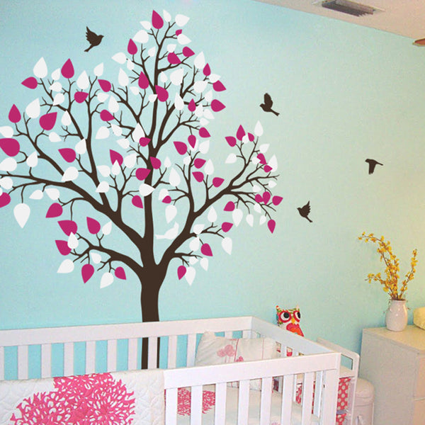 Single tree with Birds Flying R11