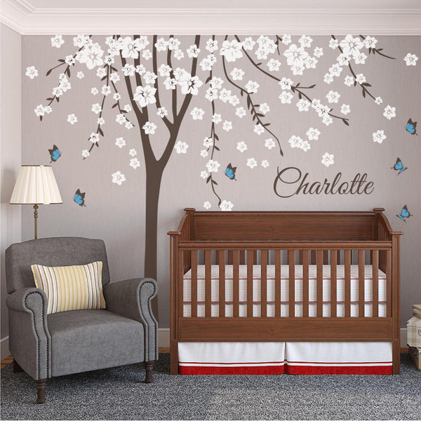 Personalised Named Tree with Butterflies R13