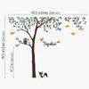 Personalised Named Tree with Birds, Owl and Fox Decal Vinyl Wall Sticker